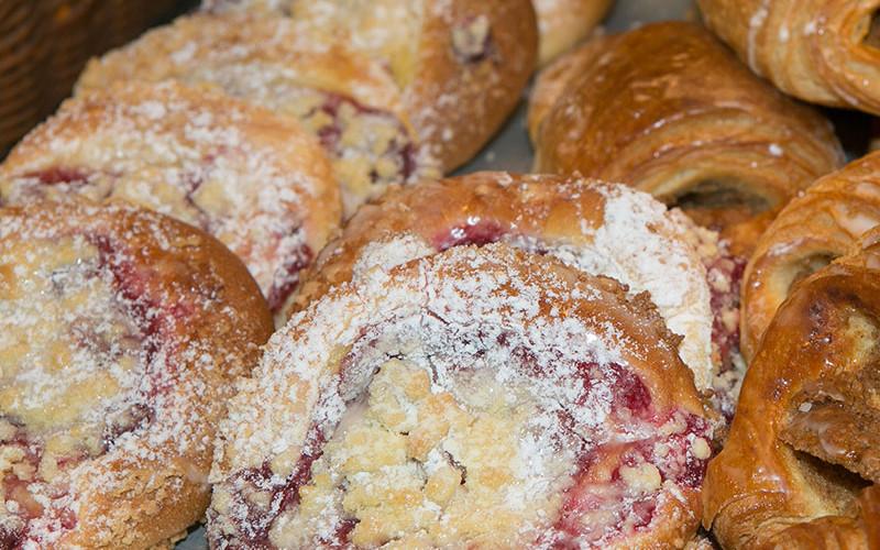 Kirschstreusel der Bäckerei Baumgartner in Görwihl, Waldshut
